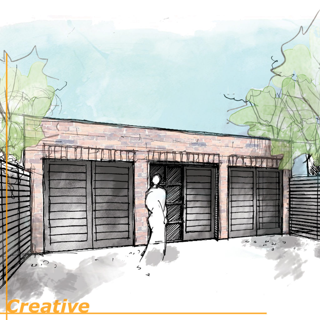 Hand drawn design for a garage conversion -> 2 bed house in Finchley ? by @justleoniuk. Main Image